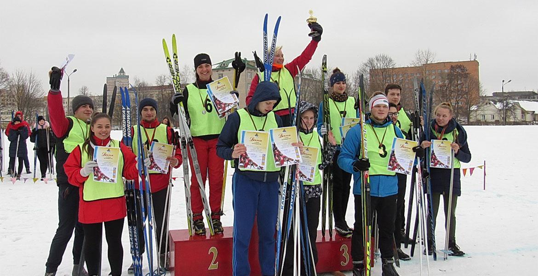 Победители первенства МГУ имени А.А.Кулешова по лыжным гонкам