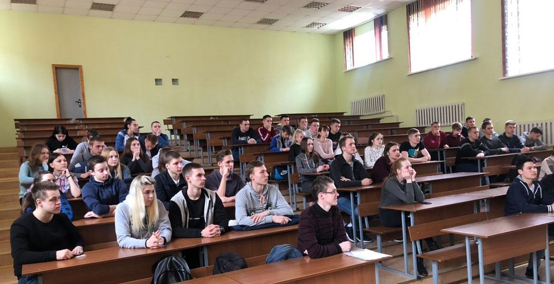Встреча первокурсников с первым секретарем ОО «БРСМ» МГУ имени А.А.Кулешова
